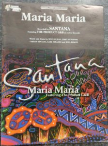 MARIA MARIA - partitura para piano, vocal e cifras para violão - Santana