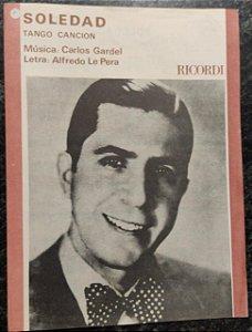 SOLEDAD - partitura para piano - Carlos Gardel e Alfredo Le Pera