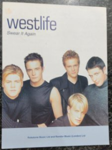 SWEAR IT AGAIN - partitura para piano, canto e cifras para violão - Westlife