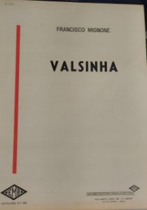 VALSINHA - partitura para piano - Francisco Mignone