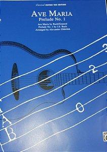 AVE MARIA - partitura e tablatura para violão - Gounod e Bach (Prelude n° 1)