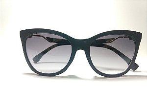 9cd27e363b1a9 Óculos de Sol Gatinho Acetato Preto Acabamento Fosco Gata Mia zoom