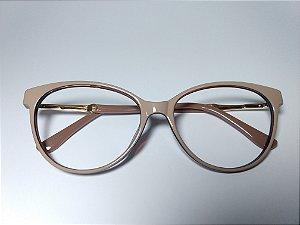 Óculos Para Grau Puxadinho Arredondado Acetato Nude