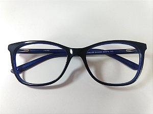 Óculos Para Grau Puxadinho Arredondado Acetato Azul Marinho