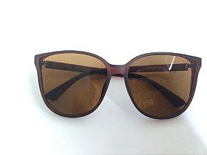 Óculos de Sol Acetato Marrom Fosco Lente Preta Gata Mia