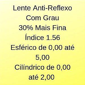 Lente Com Grau Com Anti-reflexo e Proteção UVA/UVB