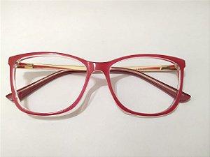 Óculos Gata Mia Acetato Rosa Chiclet Quadrado