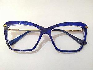 Óculos Gata Mia Acetato 3D Azul Quadrado