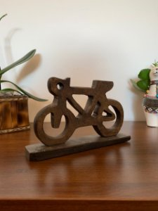 Bicicleta decorativa Pedra Sabão | Pedalemos