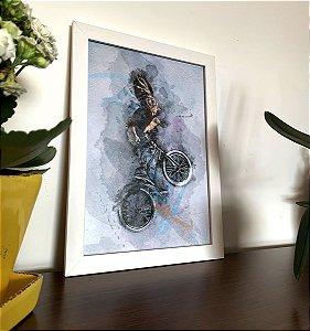 Quadro decorativo A4 BMX Life style | Pedalemos