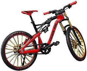 Bicicleta miniatura Diecast modelo Downhill