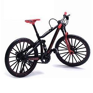 Bicicleta decorativa escala 1:10 modelo MTB slalom diecast