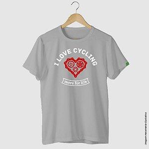 Camiseta casual ciclismo I Love Cycling
