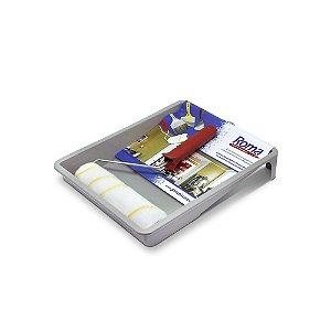 Kit Pintura Roma Flex com 3peças  ( 1 Bandeja para Pintura / 1 Cabo para Rolo 23cm / 1 Rolo 23cm)