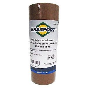 Fita Brasfort Embalagem 48mm x 45m Marrom
