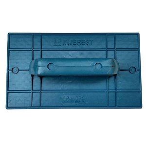 Desempenadeira Injerest Plástica 18cm x 30cm Azul Lisa