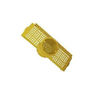 Caixa de Passagem Injerest Laje com Suporte para Lajota 25cm Amarela A