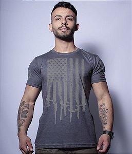 Camiseta Militar Magnata EUA Flag Arms
