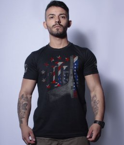 Camiseta Militar Magnata Glock Three Percent
