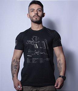 Camiseta Militar Magnata Glock Parts
