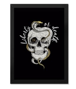 Poster Militar com Moldura Liberty Or Death