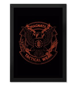 Poster Militar com Moldura Magnata Tactical Wear