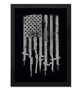 Poster Militar com Moldura Magnata EUA Flag Arms