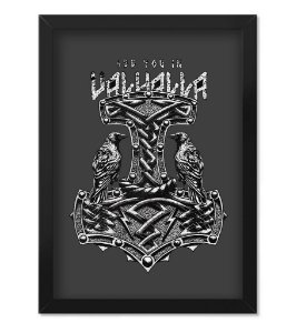 Poster Militar com Moldura Magnata See You In Valhalla