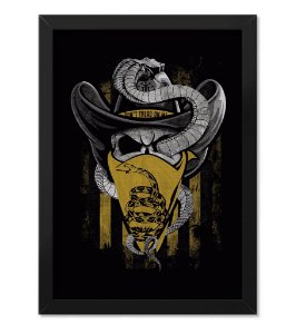 Poster Militar com Moldura Magnata Don't Tread On Me Old School