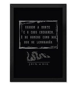 Poster Militar com Moldura Magnata Join Or Die