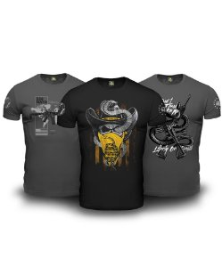 Combo 03 Camisetas Magnata Don't Tread On Me