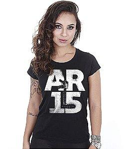 Camiseta Militar Baby Look Feminina Magnata AR15
