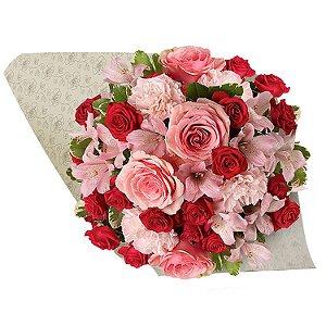 Buquê Mix de Rosas com 40 Rosas