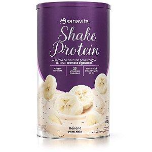 Shake Protein Banana com Chia