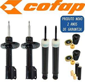 Kit 4 Amortecedor Corsa Classic Wind Wagon 1997 A 2012 Dianteiro Traseiro Cofap e Kit Coxim Batente Coifa