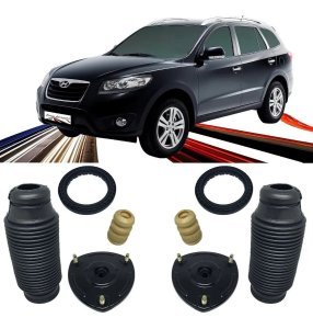KIT DO AMORTECEDOR BATENTE COXIM E COIFA HYUNDAI SANTA FE 2007 A 2012
