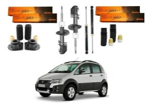 4 AMORTECEDOR COFAP TURBO GÁS FIAT IDEA ADVENTURE 2006 A 2016 + KIT BATENTE