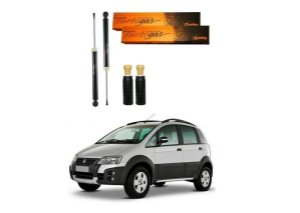 2 AMORTECEDOR TRASEIRO COFAP TURBO GÁS FIAT IDEA ADVENTURE 2006 A 2016 + KIT BATENTE