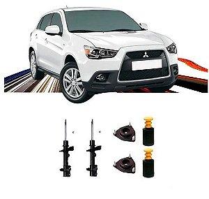 Kit 2 Amortecedor Dianteiro Kayaba Mitsubishi Asx 2011 a 2018 + Kit Batente Coifa