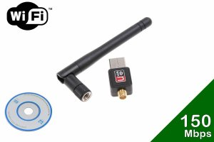 Adaptador Usb 2.0 Wi-fi 150mbps 802 . Iin  Com Antena Removível