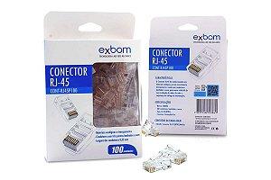 Kit 100x Conector Rj45 Cat5e Plug De Rede - Pacote Econômico
