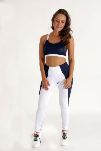 Legging Blue&White