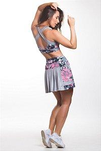 Saia com Shorts Floral