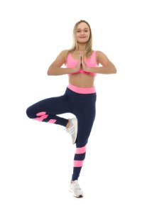 Legging Crunches BlueNavy + Pink