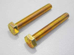 Parafuso Sextavado RI M10 x 40 Aço 5.8 Bicromatizado (Embalagem 20 peças)