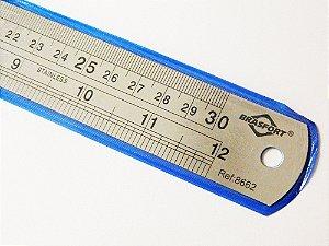Régua Escala 30 cm Aço Inox Brasfort