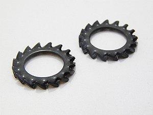 Arruela Dentada Externa M10 - Aço Mola (Embalagem 50 Peças)