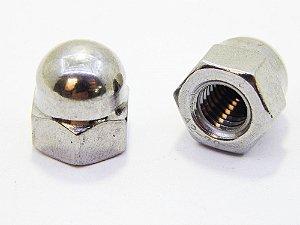 Porca Calota M5 Aço Inox (Embalagem 20 peças)