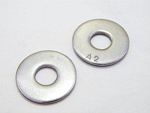 Arruela Lisa Aba Larga M5 Inox (Embalagem 50 peças)
