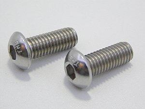 Parafuso Allen Cabeça Abaulada M3 x 10 Aço Inox (Embalagem 20 peças)